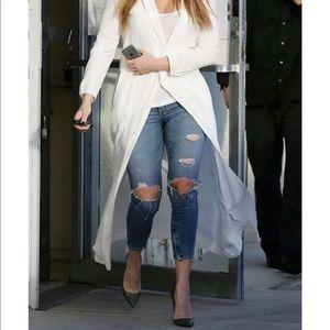 Rag & Bone 26 Zipper Capri Skinny Jeans Shredded